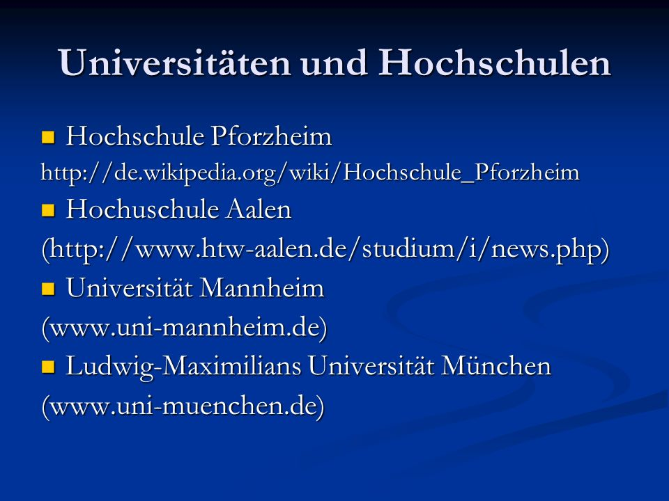 Bachelor auf Universität Mannheim (www.uni-mannheim.de)