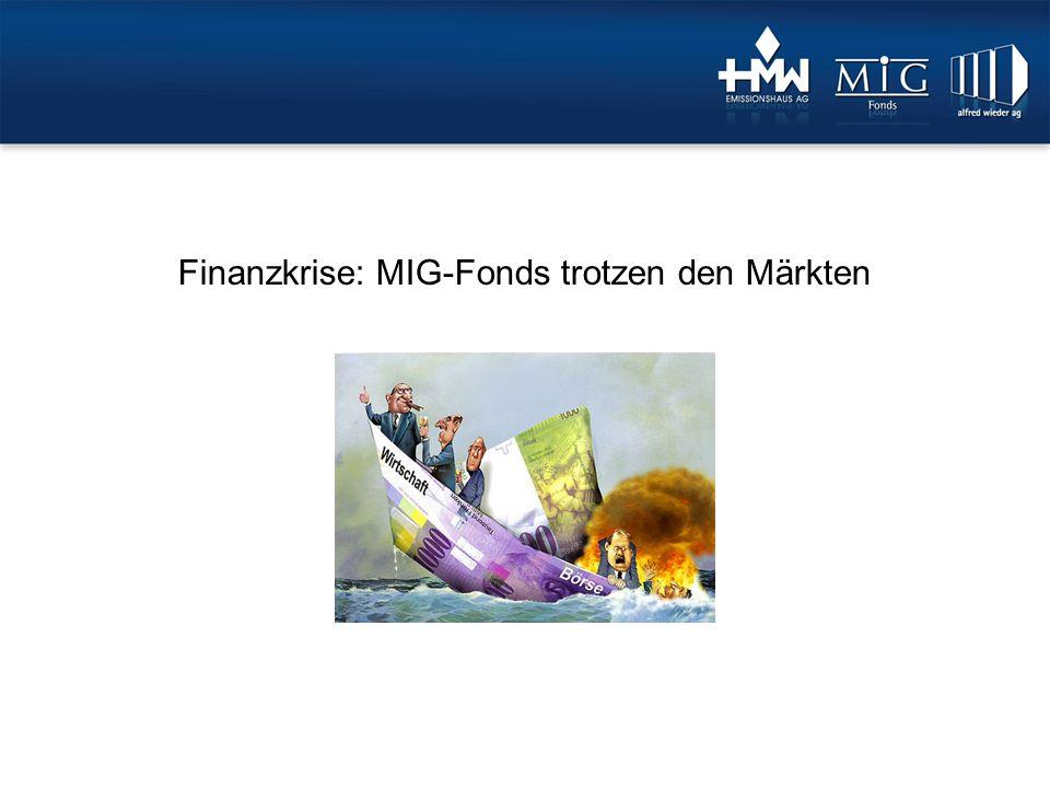 1.Finanzkrisen 2.Auswirkungen auf die Kundengelder der Banken 3.Auswirkungen auf die Börse 4.MIG Fonds nicht von Krise betroffen 5.Fazit Gliederung