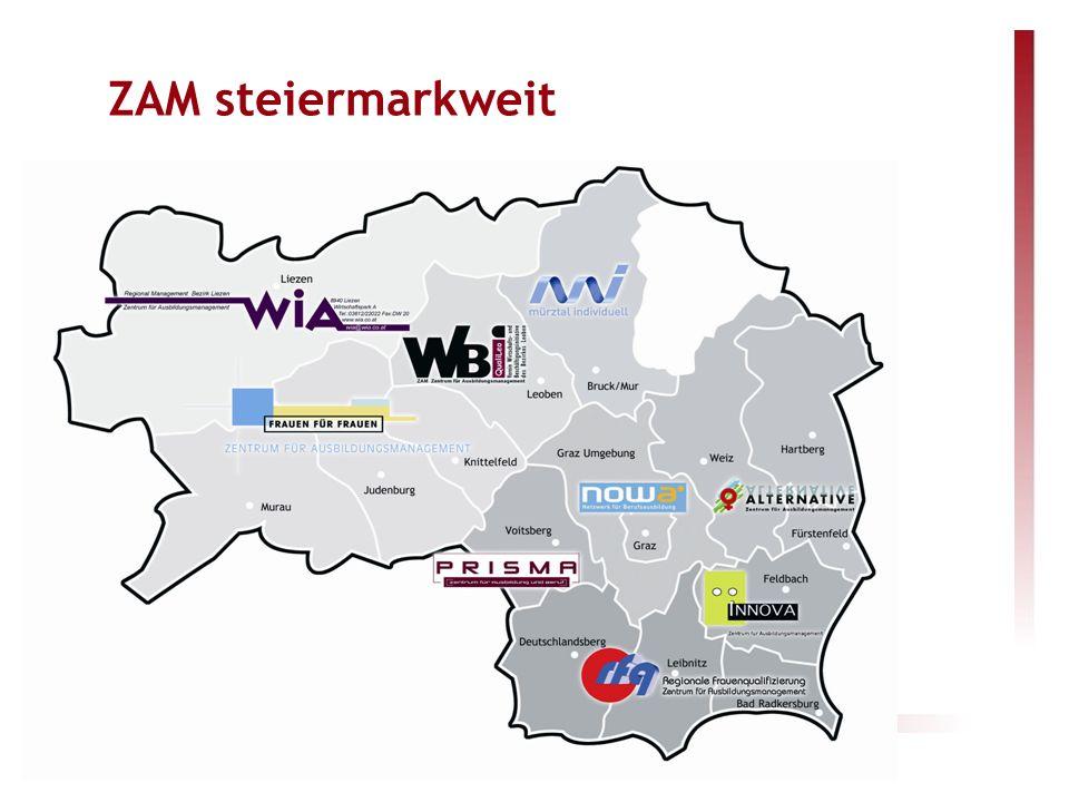 Steirische Zentren für Ausbildungsmanagement ZAM steiermarkweit