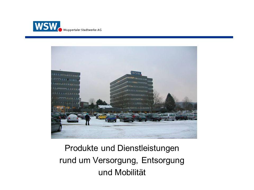 Produkte und Dienstleistungen rund um Versorgung, Entsorgung und Mobilität