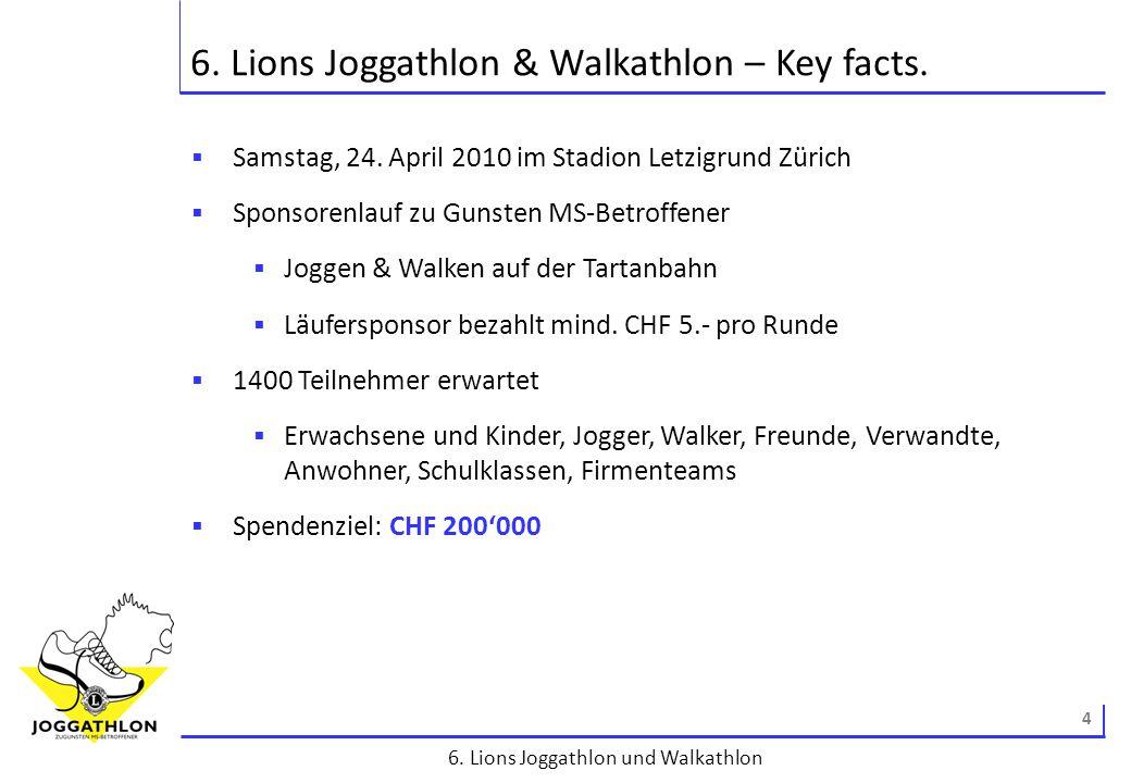 5 6.Lions Joggathlon und Walkathlon Der gute Zweck – wofür wir uns einsetzen.