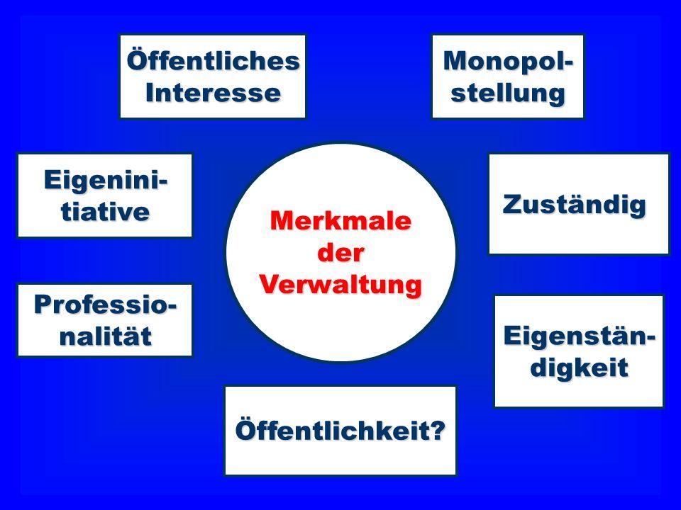 Eigenini-tiative Monopol-stellungÖffentlichesInteresse Professio-nalität Öffentlichkeit? Hierarchie Zuständig Zuständig- keit Eigenstän-digkeit Merkma