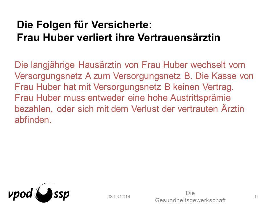 03.03.2014 Die Gesundheitsgewerkschaft 10 Die Folgen für Versicherte: Herr Wagner wird ein Pflegefall Herr Wagner wird zu einem Pflegefall.