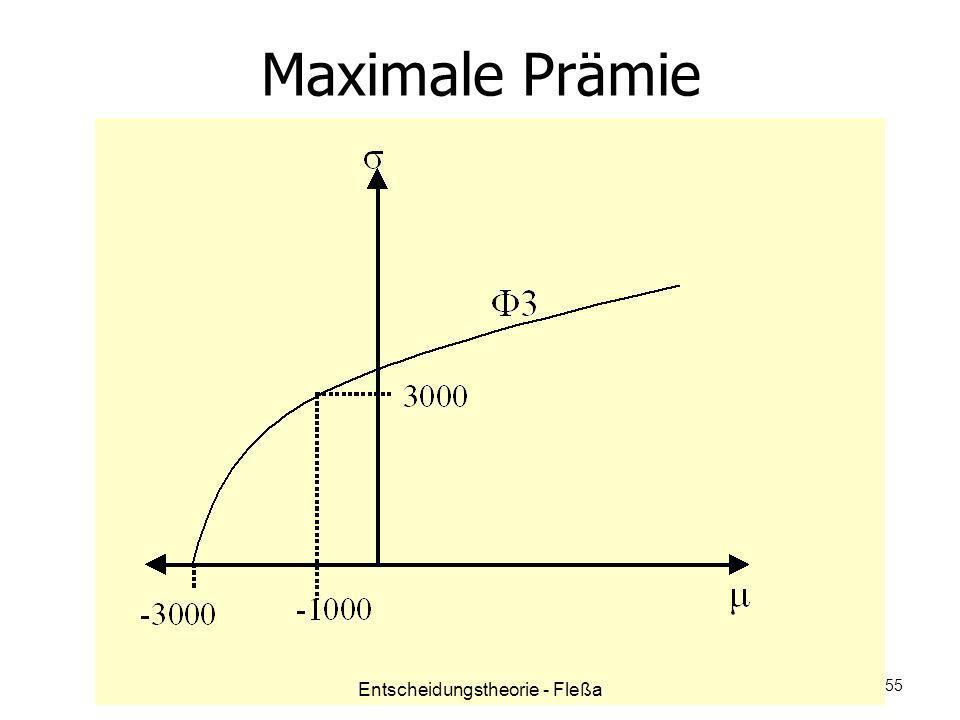Maximale Prämie Entscheidungstheorie - Fleßa 55
