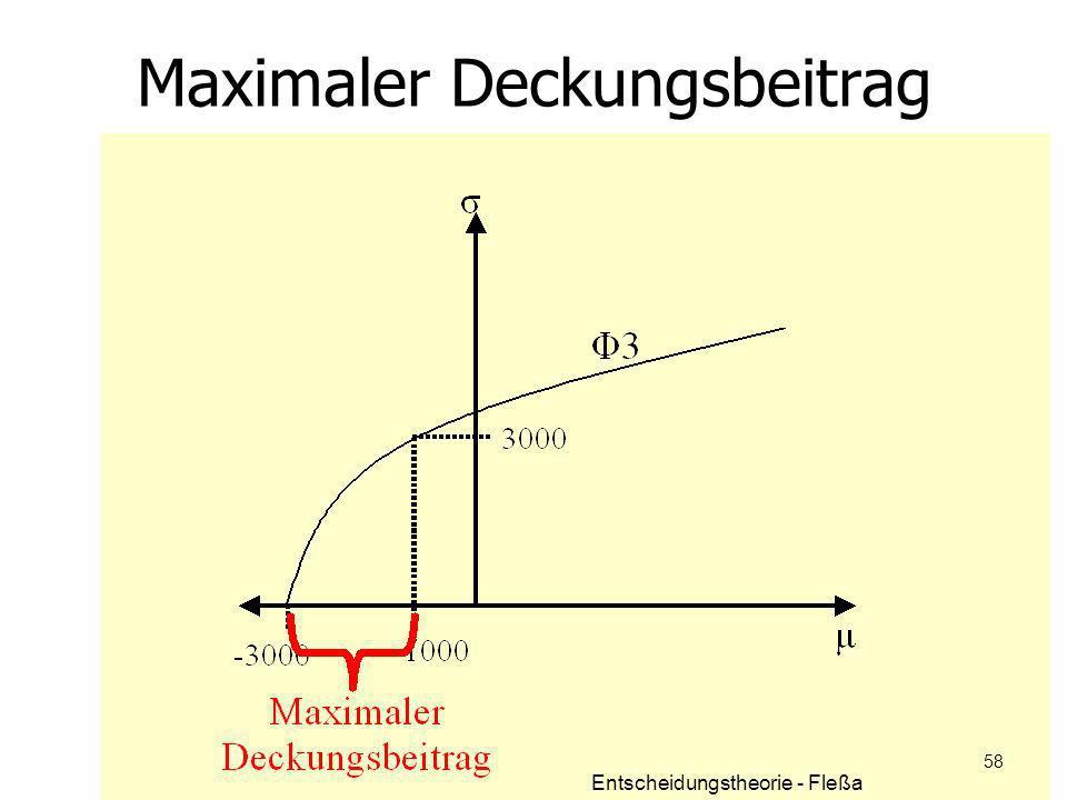 Maximaler Deckungsbeitrag Entscheidungstheorie - Fleßa 58