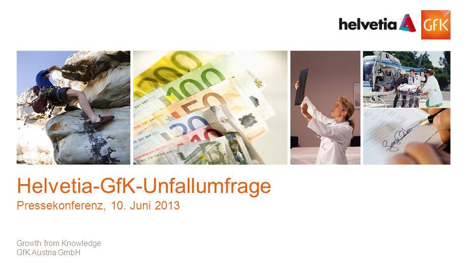1© GfK | Pressekonferenz 10.Juni 2013 Growth from Knowledge GfK Austria GmbH Helvetia-GfK-Unfallumfrage Pressekonferenz, 10.