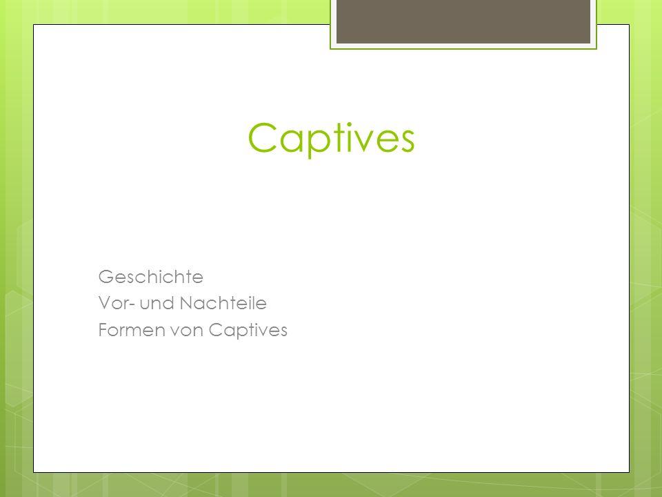Captives Geschichte Vor- und Nachteile Formen von Captives