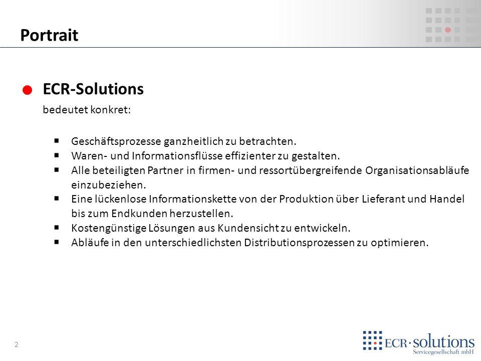 ECR-Solutions bedeutet konkret: Geschäftsprozesse ganzheitlich zu betrachten. Waren- und Informationsflüsse effizienter zu gestalten. Alle beteiligten