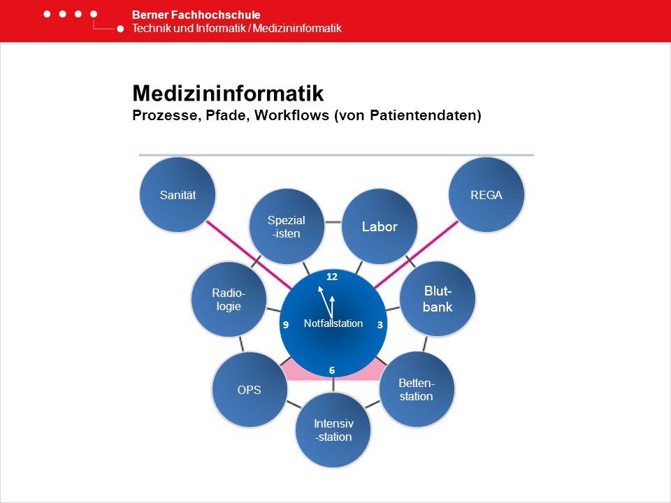 Medizininformatik Prozesse, Pfade, Workflows (von Patientendaten) Berner Fachhochschule Technik und Informatik / Medizininformatik REGASanität Labor B
