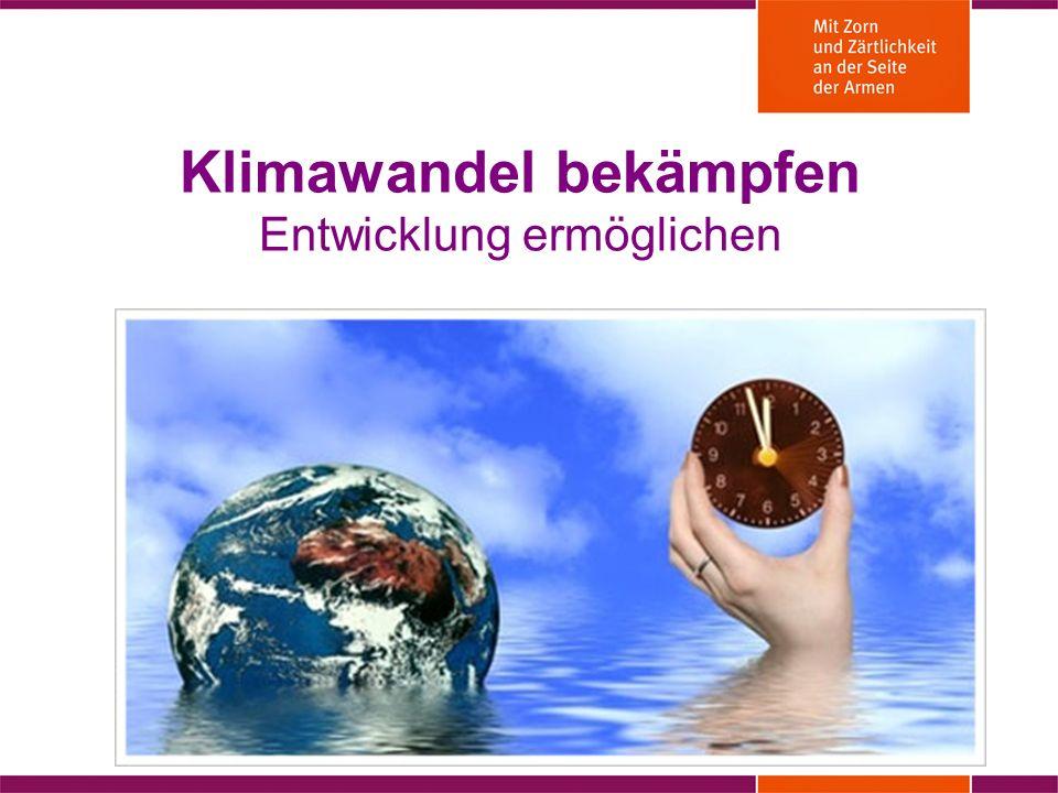 Klimawandel bekämpfen Entwicklung ermöglichen Anika Schroeder