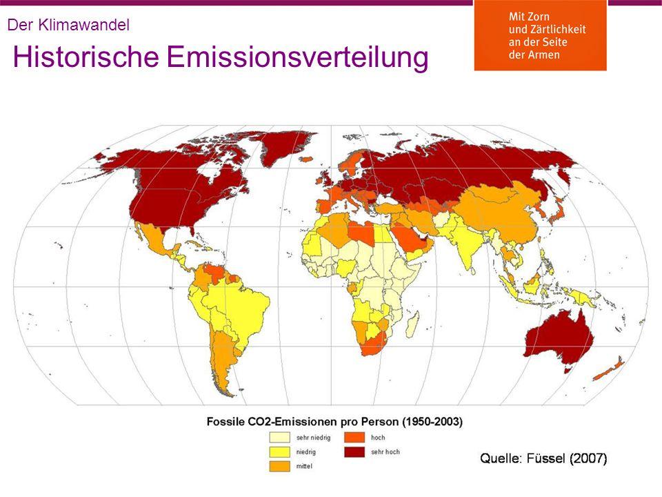 Historische Emissionsverteilung Der Klimawandel