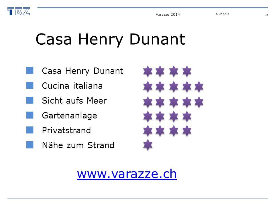Casa Henry Dunant Cucina italiana Sicht aufs Meer Gartenanlage Privatstrand Nähe zum Strand www.varazze.ch Varazze 2014 23 24.08.2013
