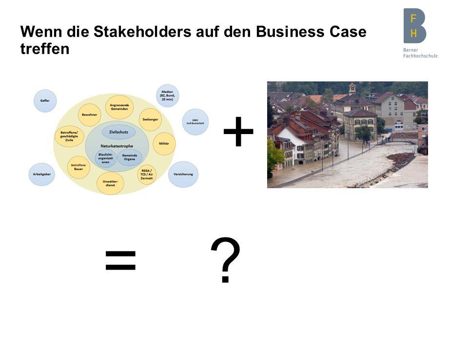 Wenn die Stakeholders auf den Business Case treffen + = ?