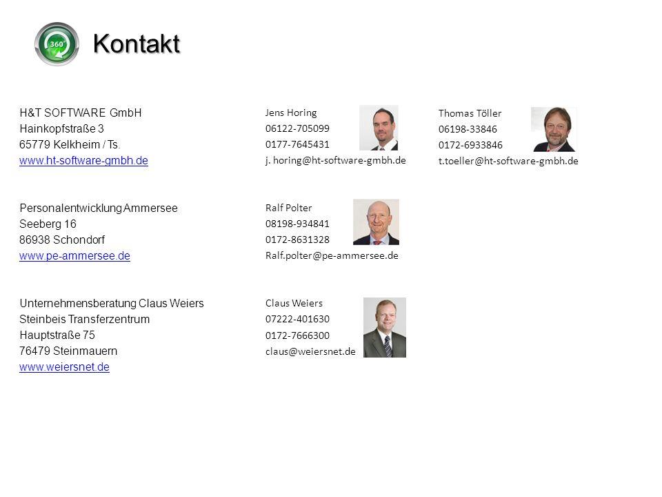 Kontakt Thomas Töller 06198-33846 0172-6933846 t.toeller@ht-software-gmbh.de H&T SOFTWARE GmbH Hainkopfstraße 3 65779 Kelkheim / Ts. www.ht-software-g