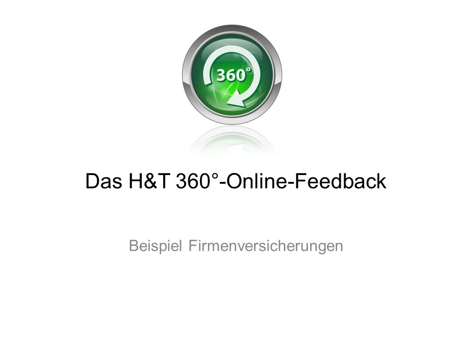 Die H&T 360°-Analyseseite Analysefilter Sichtweise