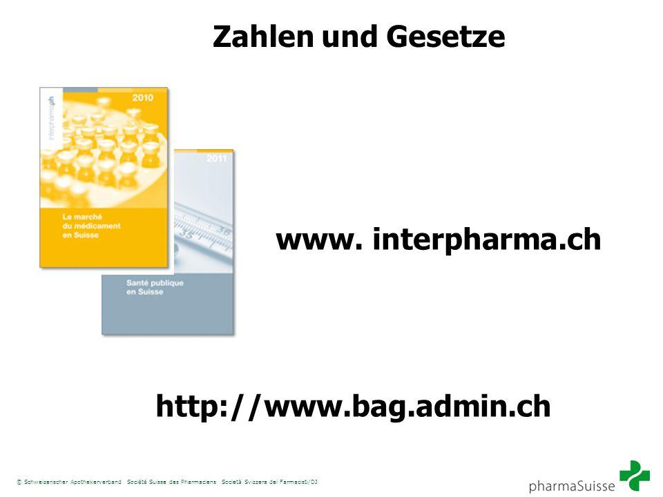 Zahlen und Gesetze www. interpharma.ch http://www.bag.admin.ch