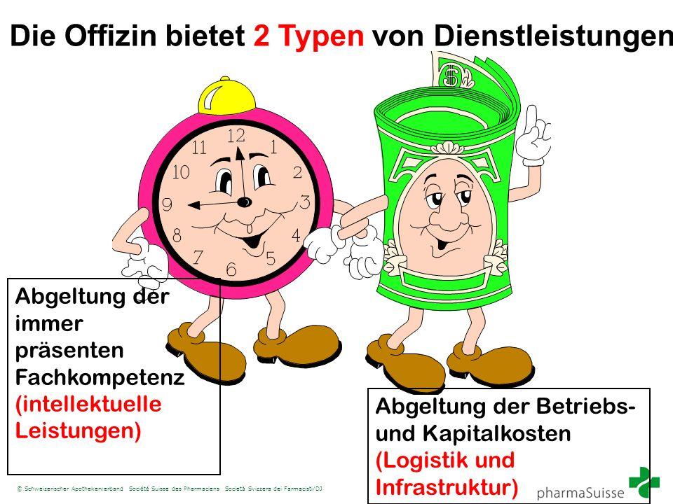 © Schweizerischer Apothekerverband Société Suisse des Pharmaciens Società Svizzera dei Farmacisti/DJ Abgeltung der immer präsenten Fachkompetenz (inte