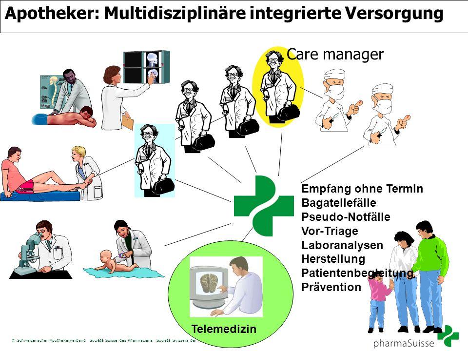 © Schweizerischer Apothekerverband Société Suisse des Pharmaciens Società Svizzera dei Farmacisti/DJ Apotheker: Multidisziplinäre integrierte Versorgu
