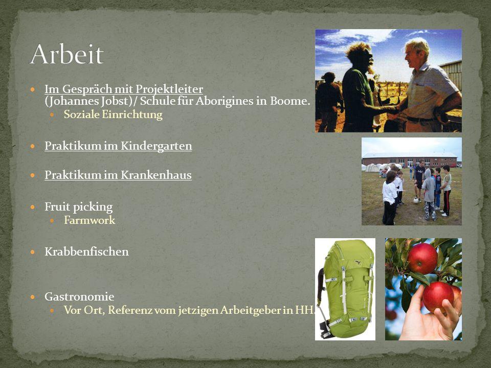 Im Gespräch mit Projektleiter (Johannes Jobst)/ Schule für Aborigines in Boome.