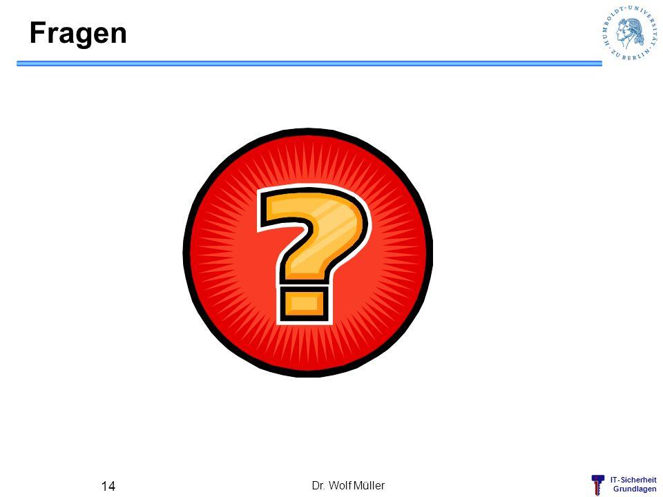 IT-Sicherheit Grundlagen Fragen Dr. Wolf Müller 14