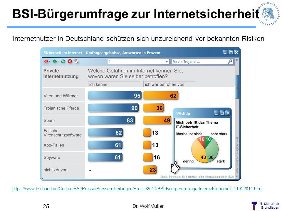 IT-Sicherheit Grundlagen BSI-Bürgerumfrage zur Internetsicherheit Internetnutzer in Deutschland schützen sich unzureichend vor bekannten Risiken https