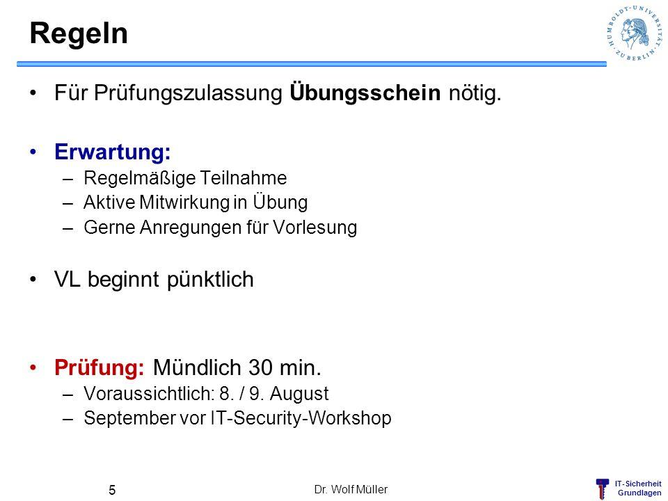 IT-Sicherheit Grundlagen Beispiel: Einkaufen im Internet Dr. Wolf Müller 46