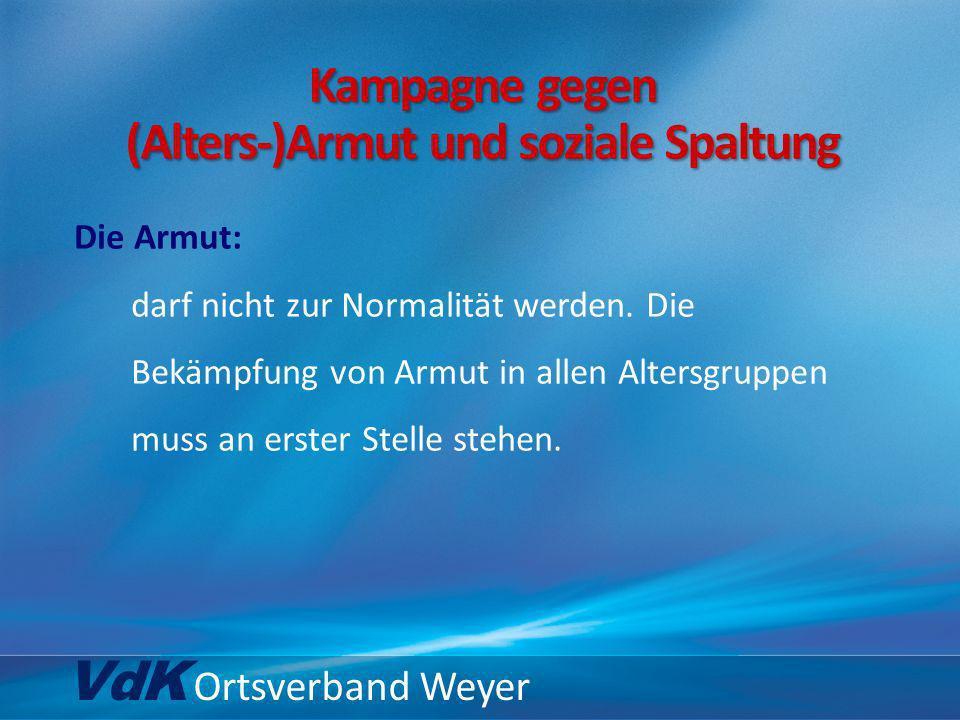 VdK Ortsverband Weyer … zur Rentenversicherung: die Stabilisierung der gesetzlichen Rentenversicherung.