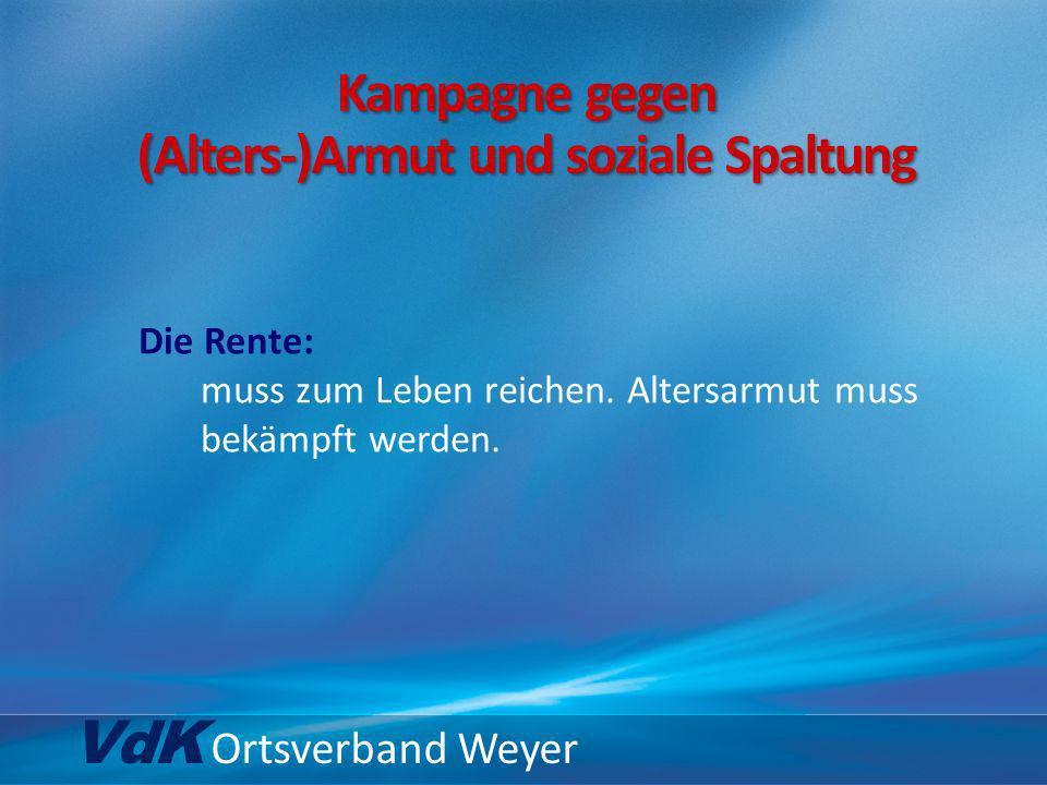 VdK Ortsverband Weyer … keine Absenkung des Beitragssatzes.