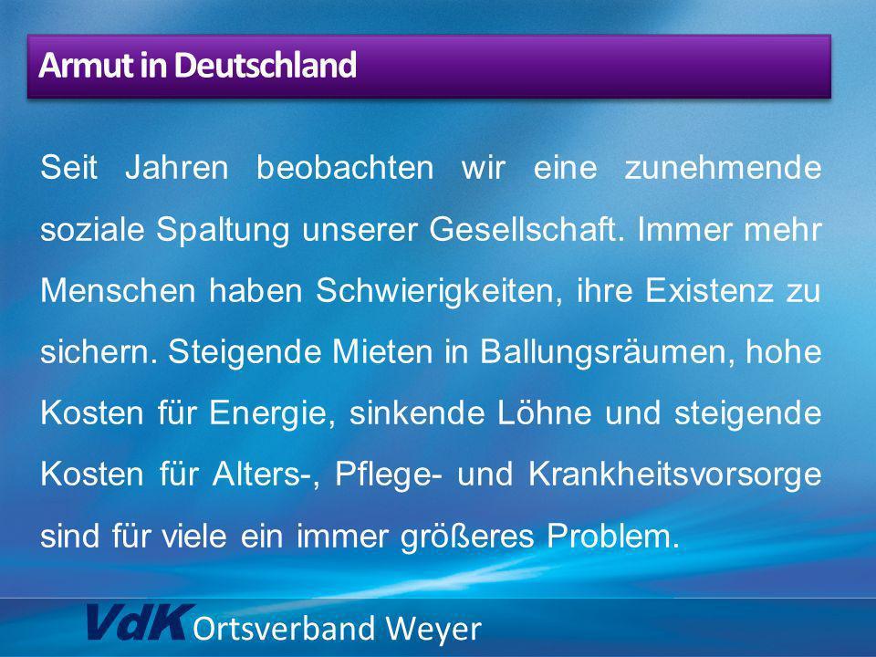 VdK Ortsverband Weyer … Wiedereinführung der paritätischen Finanzierung.