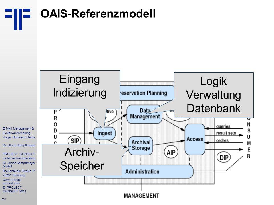 200 E-Mail-Management & E-Mail-Archivierung Vogel Business Media Dr. Ulrich Kampffmeyer PROJECT CONSULT Unternehmensberatung Dr. Ulrich Kampffmeyer Gm