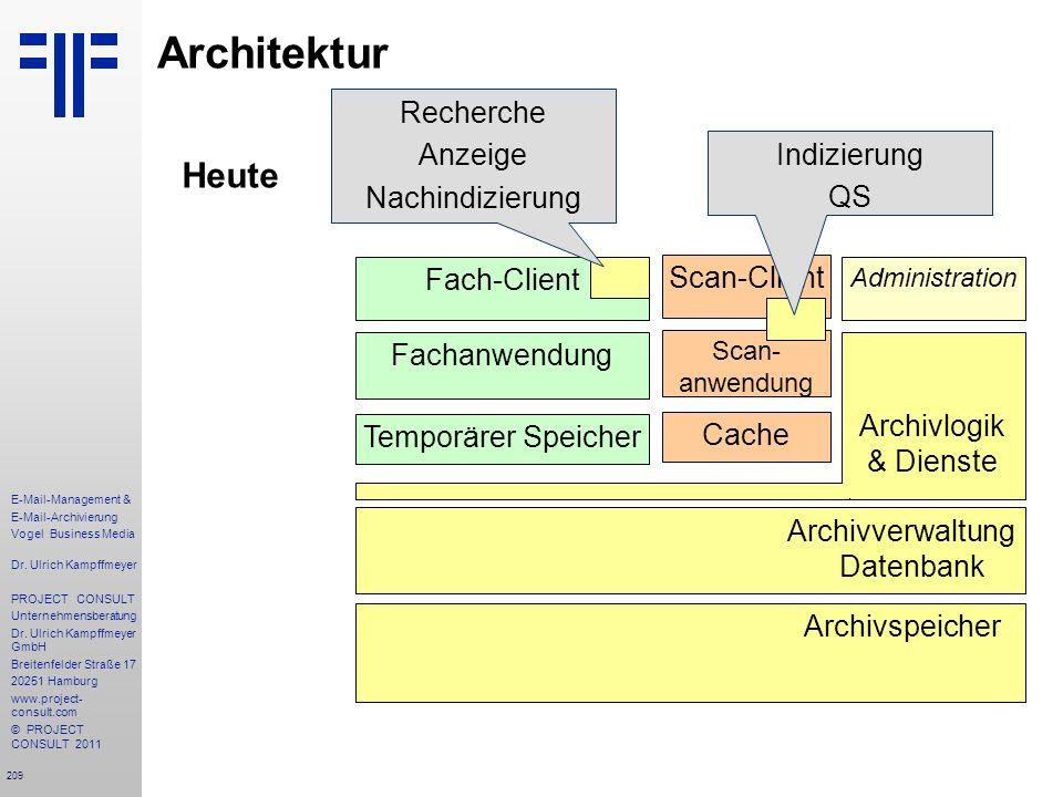209 E-Mail-Management & E-Mail-Archivierung Vogel Business Media Dr. Ulrich Kampffmeyer PROJECT CONSULT Unternehmensberatung Dr. Ulrich Kampffmeyer Gm
