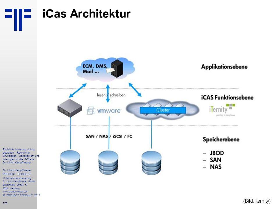 276 iCas Architektur E-Mail-Archivierung richtig gestalten – Rechtliche Grundlagen, Management und Lösungen für die IT-Praxis Dr. Ulrich Kampffmeyer D