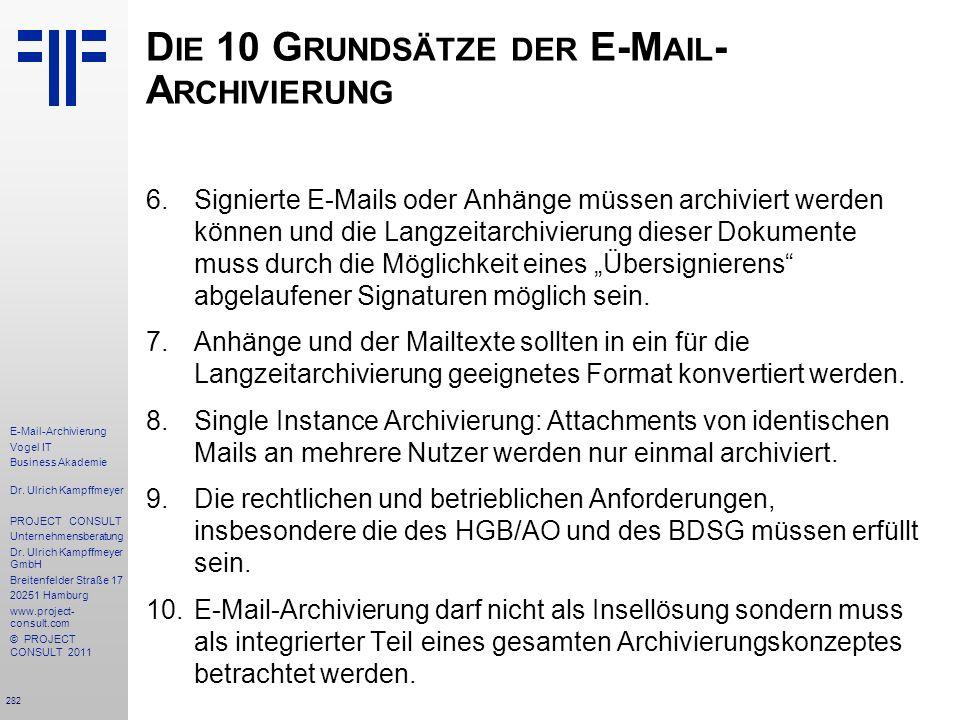 282 E-Mail-Archivierung Vogel IT Business Akademie Dr.