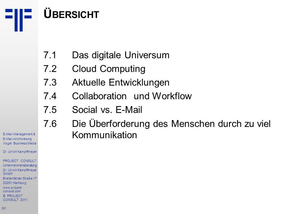 331 E-Mail-Management & E-Mail-Archivierung Vogel Business Media Dr. Ulrich Kampffmeyer PROJECT CONSULT Unternehmensberatung Dr. Ulrich Kampffmeyer Gm