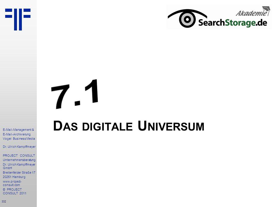 332 E-Mail-Management & E-Mail-Archivierung Vogel Business Media Dr. Ulrich Kampffmeyer PROJECT CONSULT Unternehmensberatung Dr. Ulrich Kampffmeyer Gm