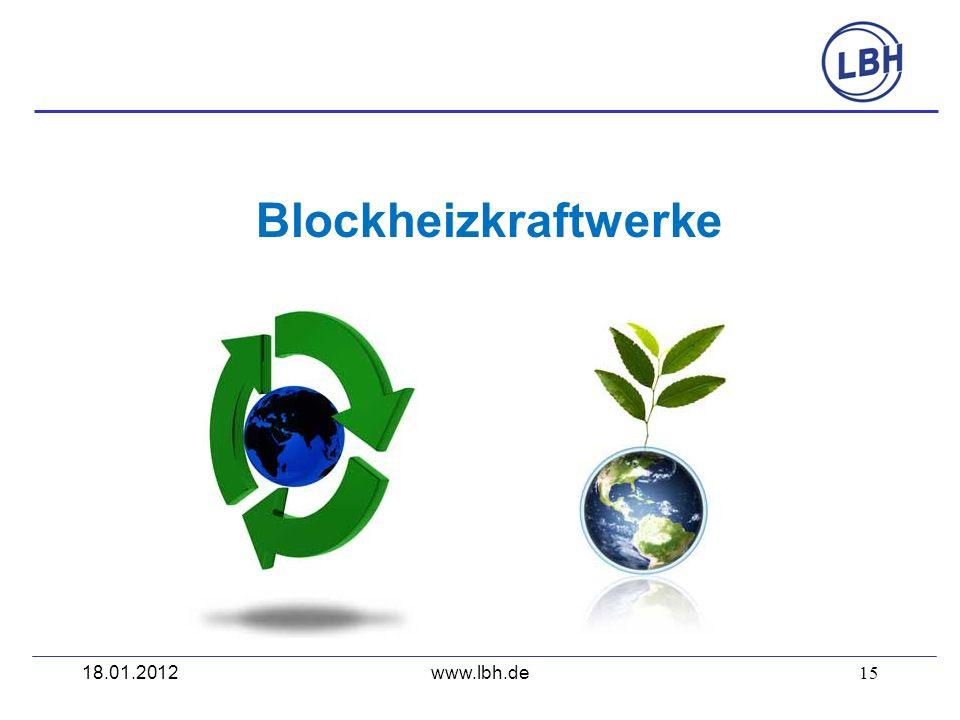 15 Blockheizkraftwerke www.lbh.de18.01.2012