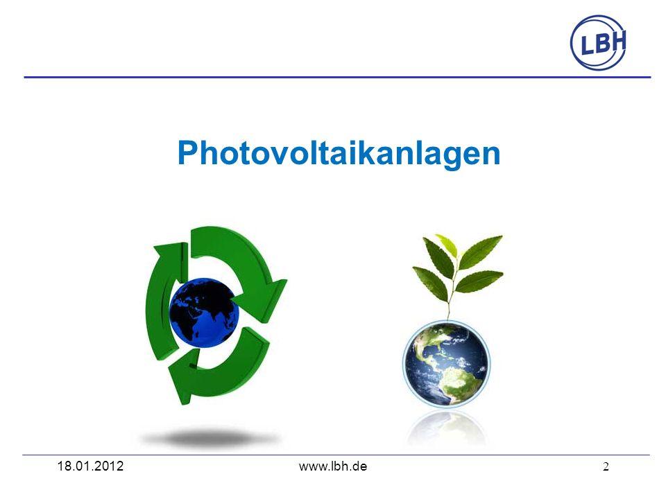2 Photovoltaikanlagen www.lbh.de18.01.2012