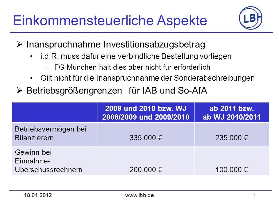 7 Inanspruchnahme Investitionsabzugsbetrag i.d.R. muss dafür eine verbindliche Bestellung vorliegen FG München hält dies aber nicht für erforderlich G