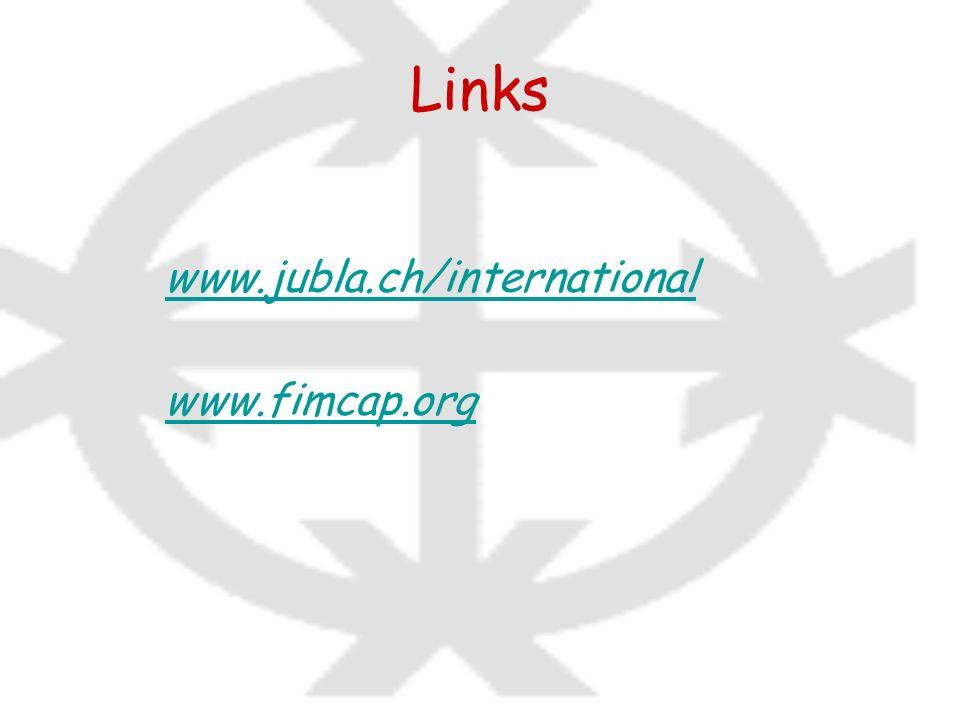 Links www.jubla.ch/international www.fimcap.org