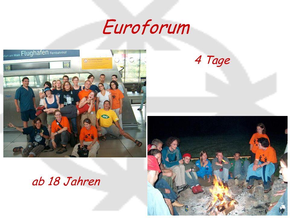 Euroforum ab 18 Jahren 4 Tage