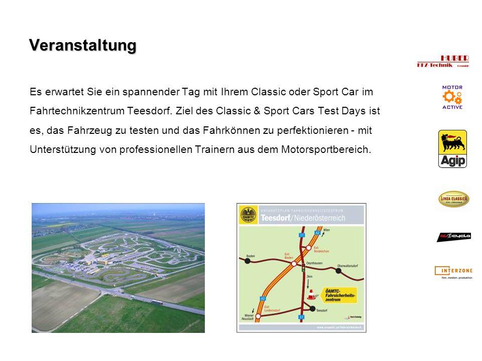 Veranstaltung Es erwartet Sie ein spannender Tag mit Ihrem Classic oder Sport Car im Fahrtechnikzentrum Teesdorf. Ziel des Classic & Sport Cars Test D