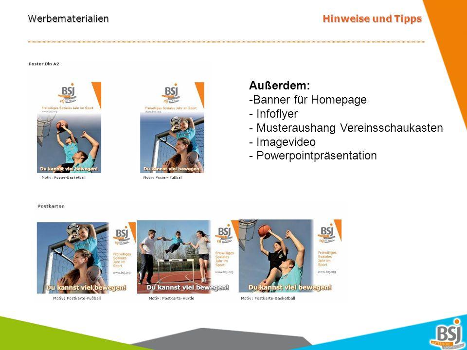 Homepage Hinweise und Tipps www.bsj.org oder mich fragen.