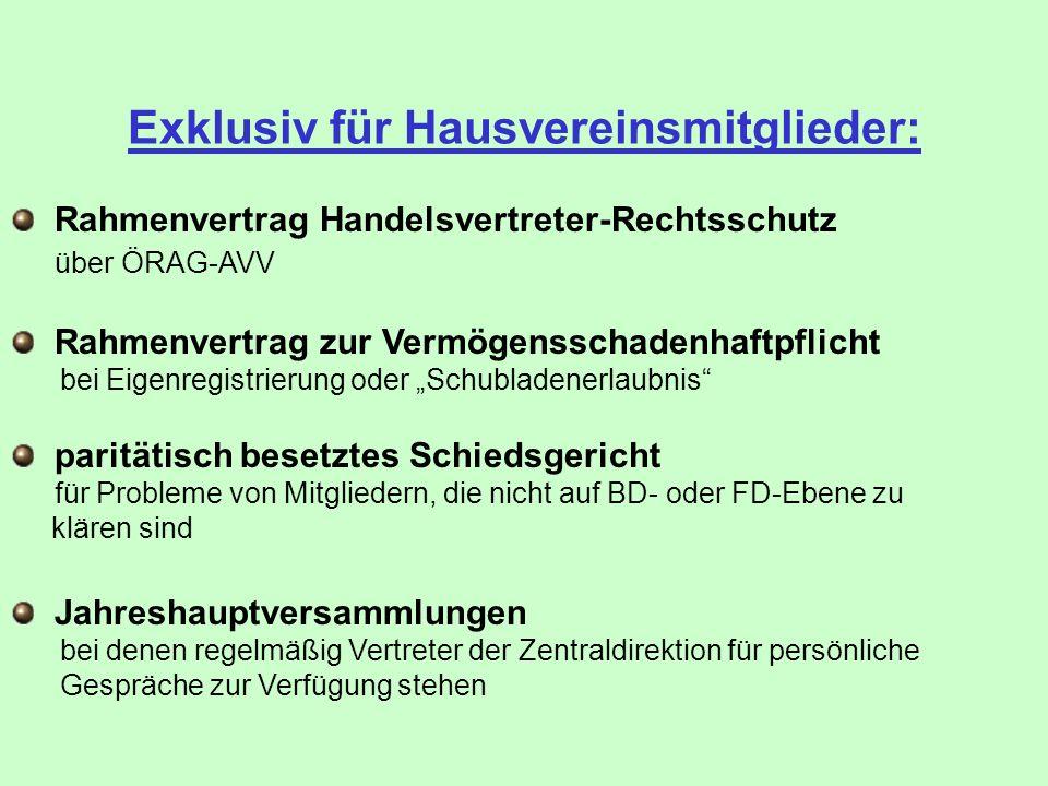Exklusiv für Hausvereinsmitglieder: Rahmenvertrag zur Vermögensschadenhaftpflicht bei Eigenregistrierung oder Schubladenerlaubnis paritätisch besetzte