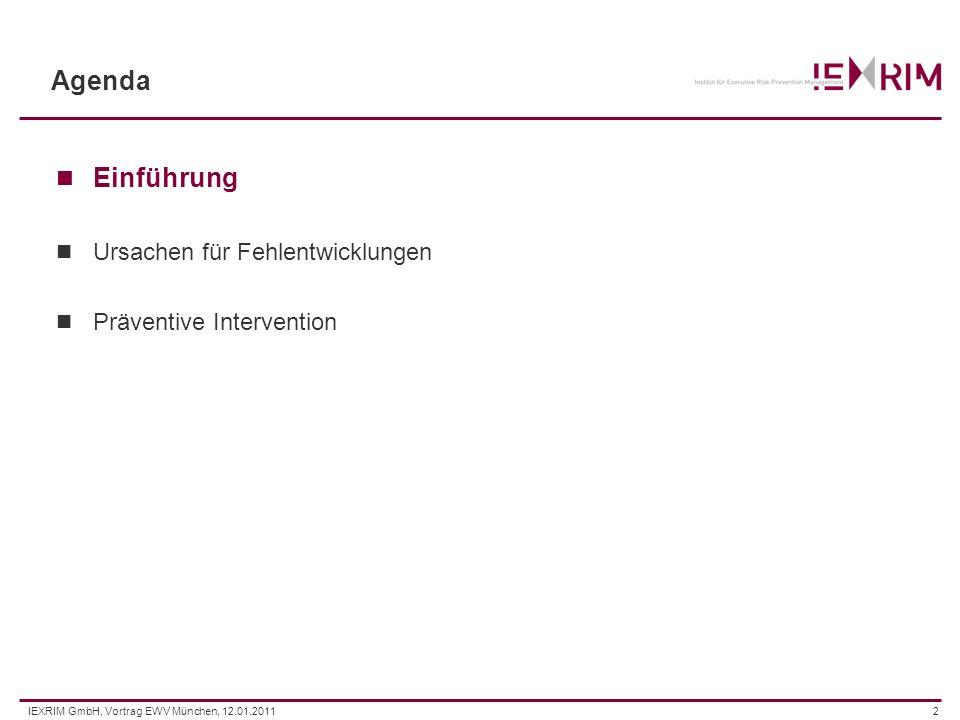 IEXRIM GmbH, Vortrag EWV München, 12.01.20113