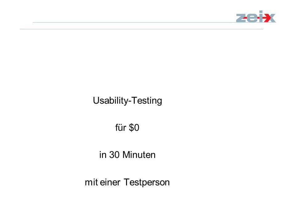 Usability-Testing für $0 in 30 Minuten mit einer Testperson