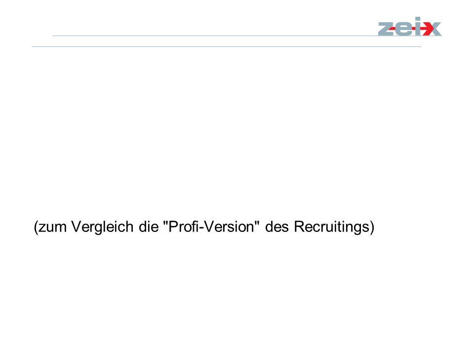(zum Vergleich die Profi-Version des Recruitings)