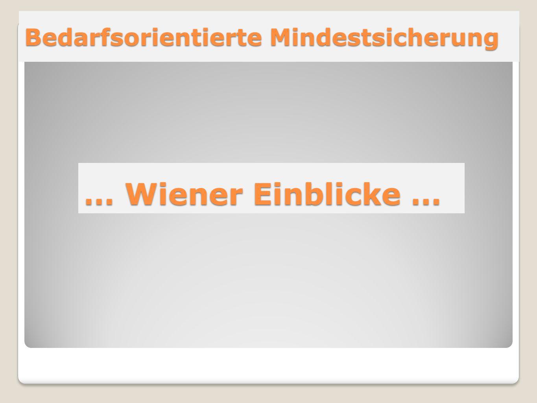 Bedarfsorientierte Mindestsicherung … Wiener Einblicke …