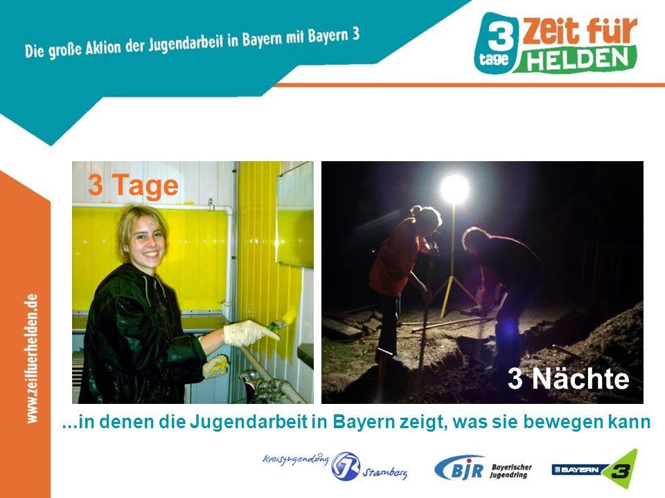 ...in denen die Jugendarbeit in Bayern zeigt, was sie bewegen kann 3 Nächte 3 Tage