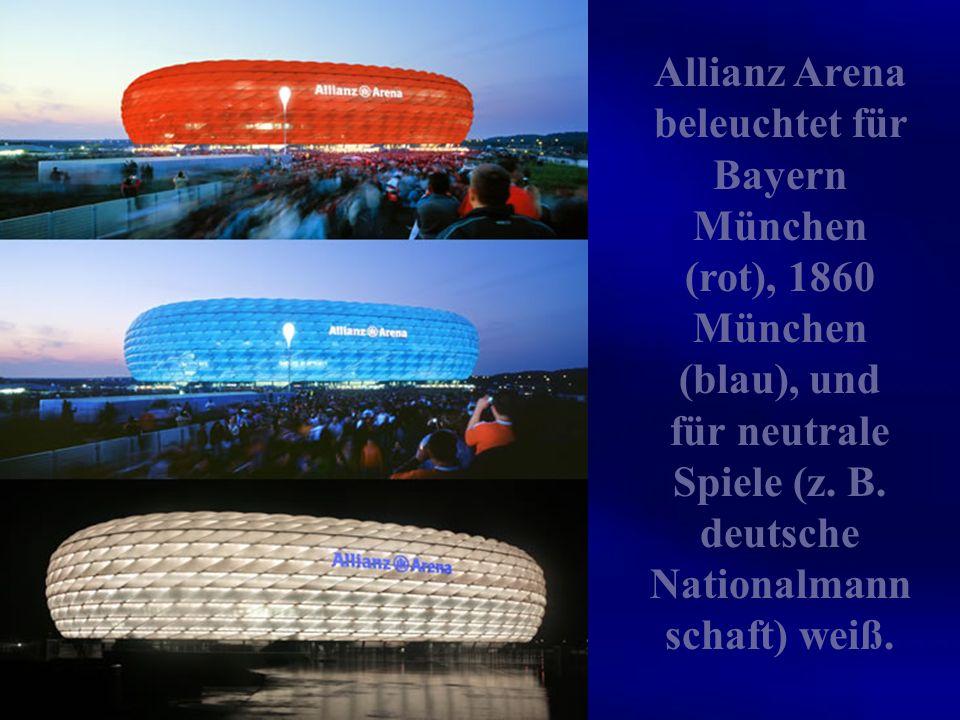 Die Allianz Arena ist ein Fußballstadion an der Werner-Heisenberg-Allee im Norden von München. In der Allianz Arena bestreiten die beiden Münchner Fuß