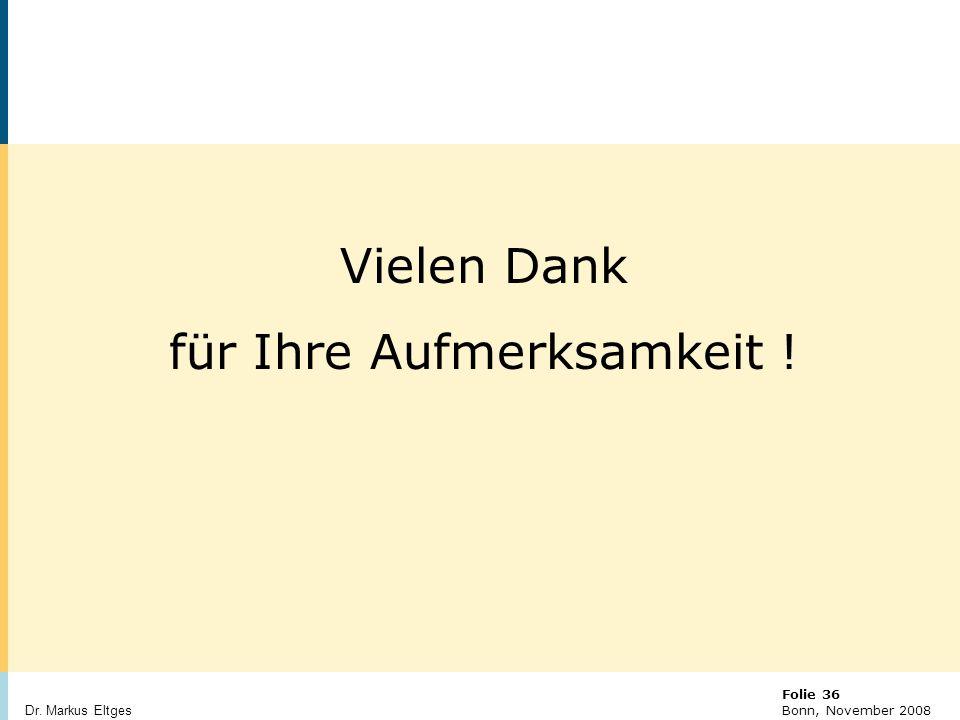 © BBR Bonn 2003 Folie 36 Bonn, November 2008 Dr.